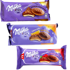 3 Biscoito Choco Jaffa Orange / Mousse / Raspeberry - Milka