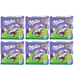 6 Caixa De Chocolate Milka-milkinis Sticks Tabletes 43,75g