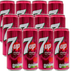 Refrigerante 7up Cherry - Cereja Seven Up Importado 12 latas