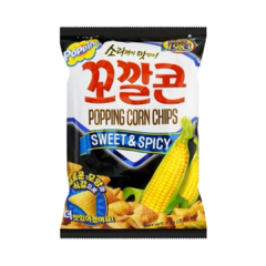 Salgadinho Popping Corn Chips Sweet E Spicy Importado Coreia