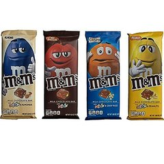 Kit 4 Barra De Chocolate Ao Leite Recheio M&m's Importada