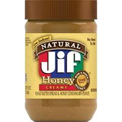 Manteiga De Amendoim Jif Natural Cremosa Honey 454g - Eua - comprar online