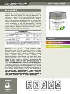 Essencial-9 EAA Nutri Science by Bodyaction - comprar online