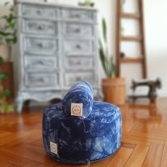 KIT pillow+puff/ shibori