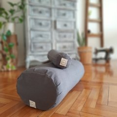KIT pillow+bolster / tussor GRIS