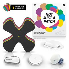 Adesivo Not Just a Patch | MultiColor | Grande | X patch | 20 unidades