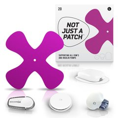 Adesivo Not Just a Patch | Roxo | Grande | X patch | 20 unidades
