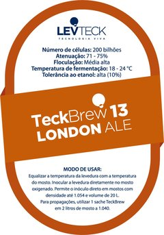 Fermento líquido TeckBrew 13 - London Ale + kit Térmico