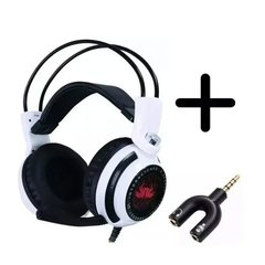 Headset Gamer e Adaptador