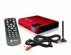Receptor Antena Tv Digital Automotivo E Tech Controle Remoto