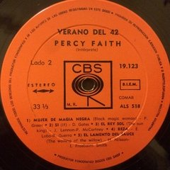 Vinilo Soundtrack Percy Faith - Verano Del 42 Lp Argentina en internet