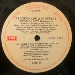 Vinilo Pet Shop Boys Abandonado A Mi Suerte - Lef To My Own - BAYIYO RECORDS
