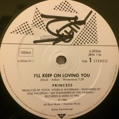 Vinilo Princess I'll Keep On Loving You Alemán 1986 Dj 80 en internet