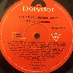 Vinilo Varios 4to Festival Buenos Aires De La Cancion Lp Arg - BAYIYO RECORDS