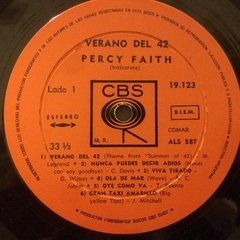 Vinilo Soundtrack Percy Faith - Verano Del 42 Lp Argentina - BAYIYO RECORDS