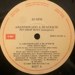 Vinilo Pet Shop Boys Abandonado A Mi Suerte - Lef To My Own en internet