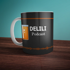 "Caneca Branca Mr Bully Gaming ""Delili Podcast"" - comprar online"