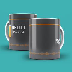 "Caneca Branca Mr Bully Gaming ""Delili Podcast"" na internet"