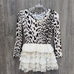 Vestido Pituchinhu's ML Animal Print Tam 2 anos