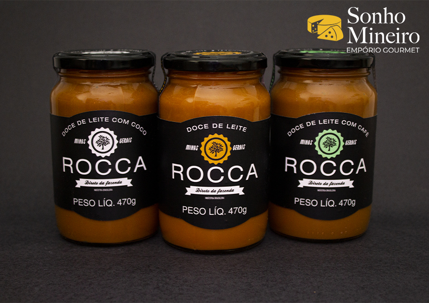 Kit 3 Doces De Leite Tradicional, Com Café E Com Coco - Rocca - 470G