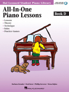 All-In-One Piano Lessons Book D - HL-00296852