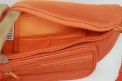 Pochete crossbody laranja com forro impermeável - I wanna be your toy bolsas, mochilas e pochetes