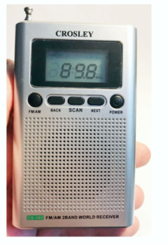 Radio Portatil Am Fm Con Sintonizador Digital Crosley