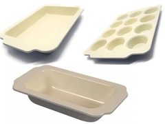 Set Kit X3 Moldes Doble Capa Ceramica