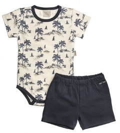CONJUNTO BODY E SHORT SUEDINE
