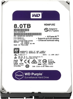 Disco Rigido interno WD 8Tb 64mb Sata 3 Purple WD80PURZ