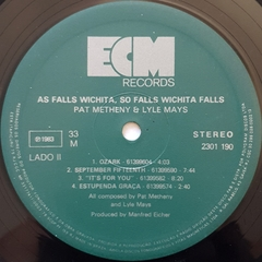 LP Pat Metheny & Lyle Mays - As Falls Wichita, So Falls Wichita Falls - loja online