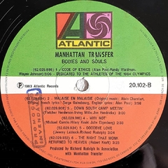 LP The Manhattan Transfer - Bodies And Soul - BOLACHÃO DISCOS