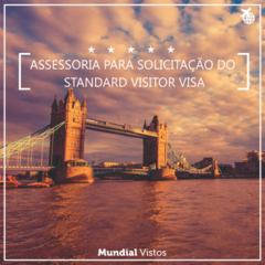 Visto reino unido standard visitor - valor referente à assessoria documental.