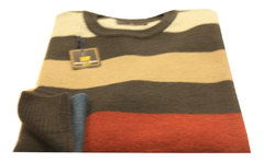 Sweater Cuello Redondo Rayas Anchas (6494) en internet