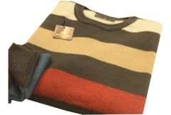 Sweater Cuello Redondo Rayas Anchas (6494) - Bugato shops