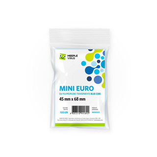 Sleeve Mini Euro (45 mm x 68 mm) - Meeple Virus Blue Core