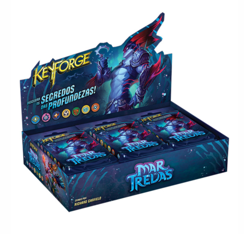 KeyForge: Mar de Trevas - Deck Display + Box Era da Ascensão de brinde