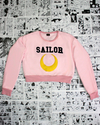 Moletom Sailor Moon Lua Cropped Blusa Fechado na internet