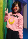 Moletom Sailor Moon Lua Cropped Blusa Fechado