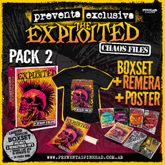 "PACK 2   -THE EXPLOITED ""The Chaos Files"" Boxset  (3CD+DVD+LIBRO)   + REMERA +POSTER - comprar online"