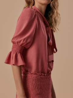 Blusa Gola Laço Orquidea Blush - The House