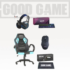 Silla Gamer Mid Core + Pad + Teclado + Auriculares + Mouse