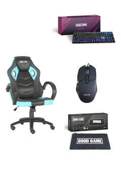 Silla Gamer Mid Core + Pad + Teclado  + Mouse - Good Game