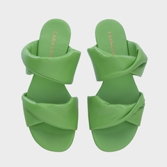 FLAT KNOT DOUBLE COURO VERDE CARRANO 314006 - loja online