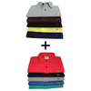 KIT 5 CAMISAS POLO TMH + KIT 5 CAMISAS POLO LAC