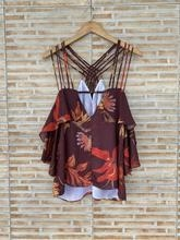 Blusa chocolate floral Animale - 38