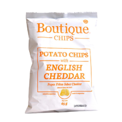 Potato chips whit English cheddar x 65 gr - Boutique chips