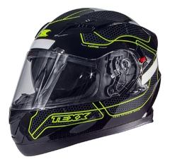 Capacete Moto Texx G2 Panther Dupla Viseira Interna Verde
