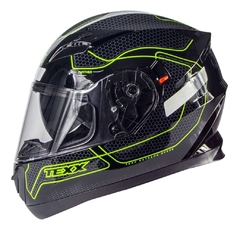 Capacete Moto Texx G2 Panther Dupla Viseira Interna Verde na internet