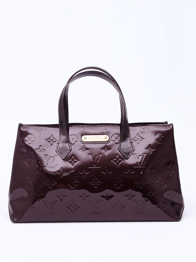 Bolsa Louis Vuitton Monogram Vernis Wilshire PM